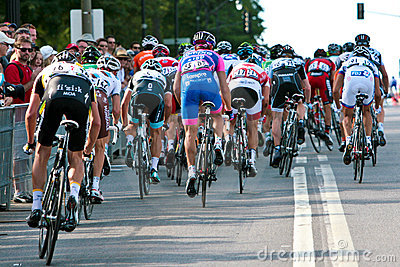 The Peloton racing Editorial Photo