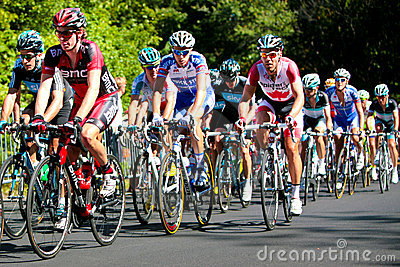 The Peloton racing with BMC leading Editorial Photography