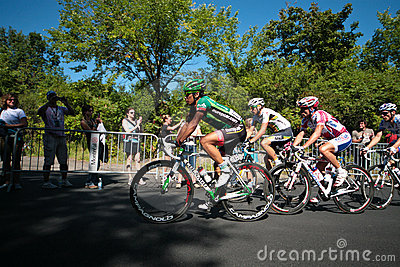 The Peloton racing with Yukiya ARASHIRO leading Editorial Image