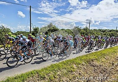 The Peloton - Tour de France 2016 Editorial Photography
