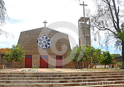 Pemba. The religious building of the temple. Africa, Mozambique