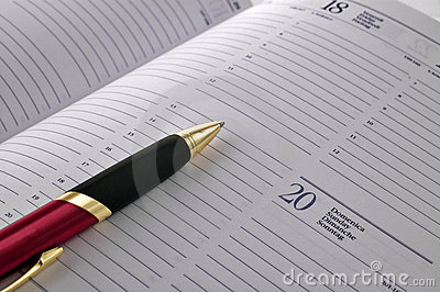 Pen on agenda page