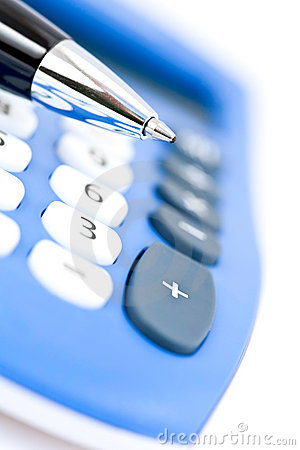 Free Pen And Calculator Stock Images - 16806444
