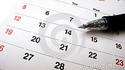 Pen and calendar