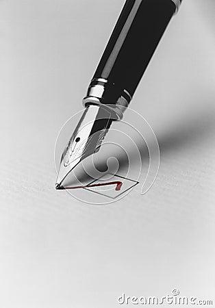 Free Pen Checking Box Stock Image - 30844101