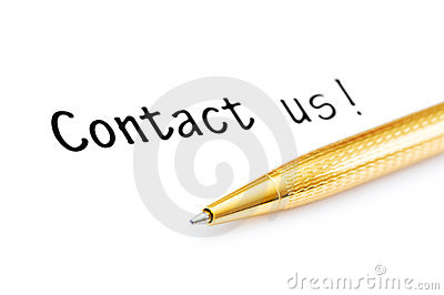 Pen and contact us message