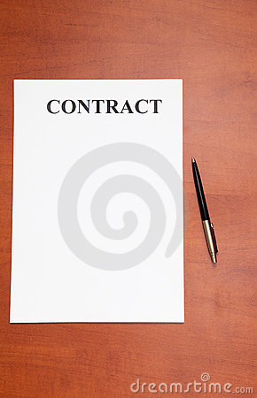 Pen and contract