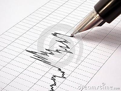 Pen-feather draws a graph (Grid 1)