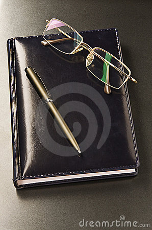 Pen and glasses