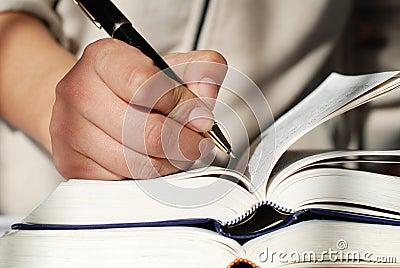 Pen in a hand
