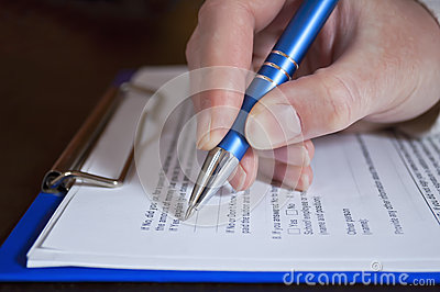 Pen in hand