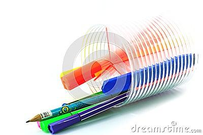 Pen in holder