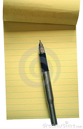 The pen and note pages