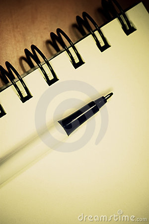 Pen On Notebook Royalty Free Stock Photography - Image: 7928777