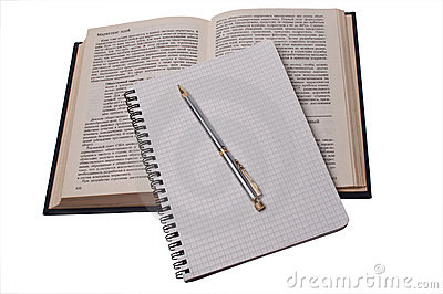 Pen on notebook and book 2