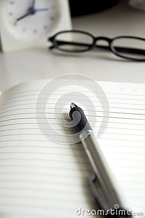 Pen on notebook