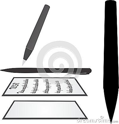 Pen paper Stock Photo