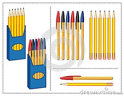 Pen and Pencils Set