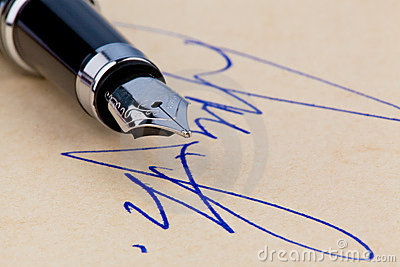 A pen and a signature