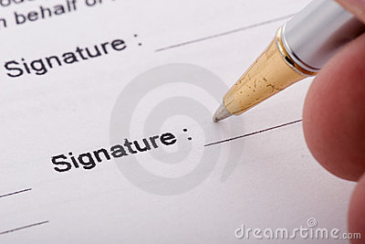 Pen signing form