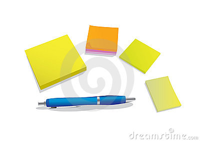 Pen and stickies