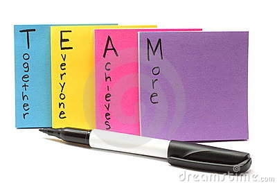 Pen with Team together everyone achieves more