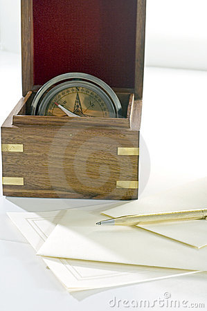 Free Pen With Box Compass Royalty Free Stock Photos - 5487228