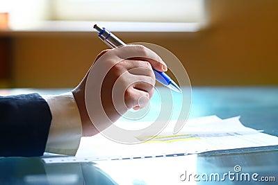 Pen  work hand