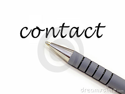 Pen writing contact
