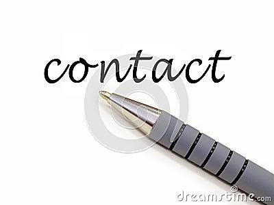 Pen writing contact