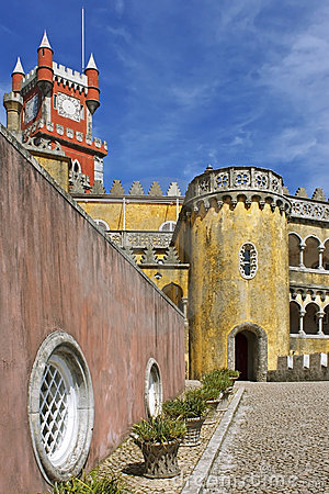 Pena, colorful palace