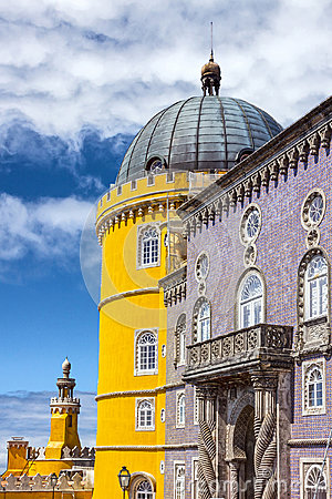 Free Pena National Palace In Sintra Palacio Nacional Da Pena, Portu Stock Photography - 85500862