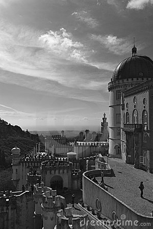 Pena palace black and white