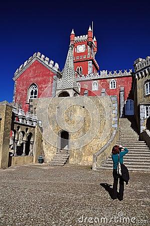 Pena palace, sintra Editorial Stock Photo