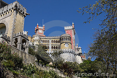 Pena Palace, in Sintra, Portugal