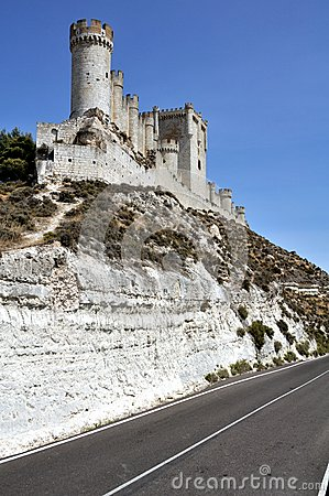 Penafiel Castle (Vertical) with road