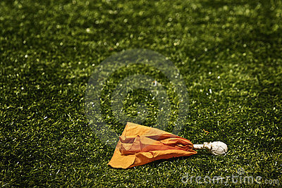 Penalty flag on pitch