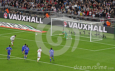 Penalty Kick by Rooney Editorial Image