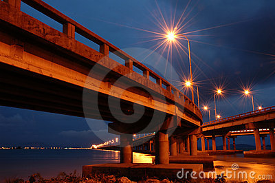Penang Bridge at Twilight Hour