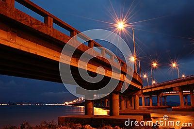 Penang Bridge at Twilight Hour