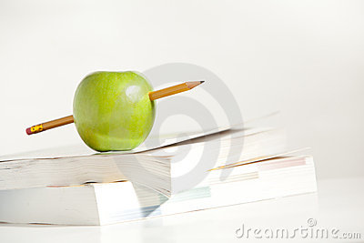 A Pencil through an Apple