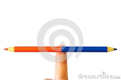 Pencil art balance