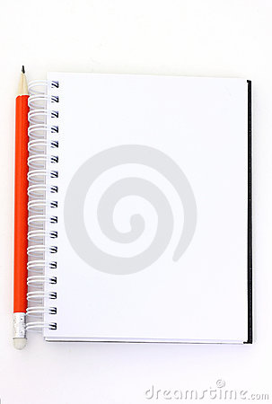 Pencil and booklet