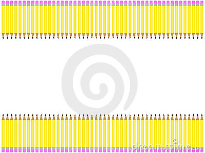 school clip art borders. PENCIL BORDER