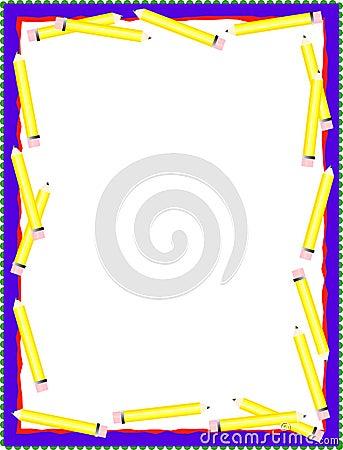 Yellow Pencil Border