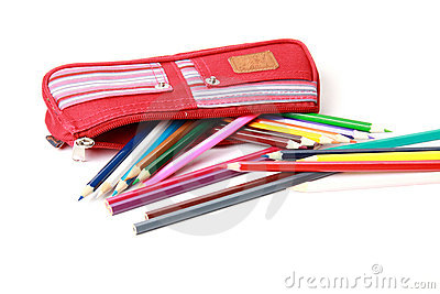 Pencil-case with pencils