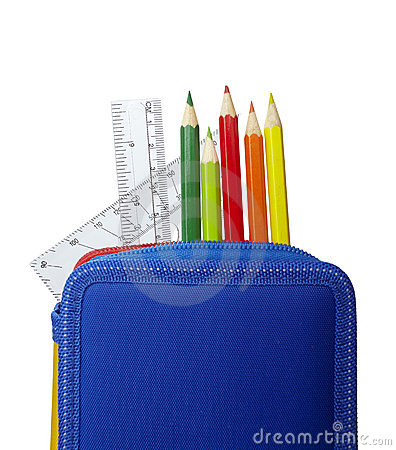 Free Pencil Case Rulers School Education Stock Photo - 11042830