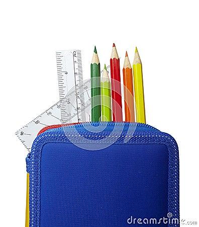 Pencil case rulers school education