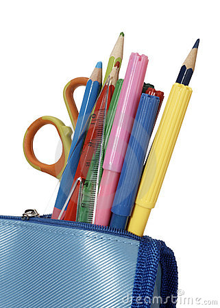 Free Pencil Case School Education Royalty Free Stock Photography - 12080697