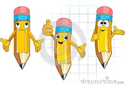 Pencil Character facial expressions and posing